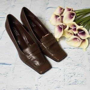 Women's Square Toe Franco Sarto Heeled Loafer